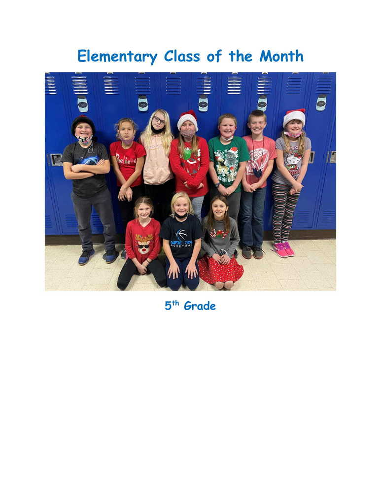 November Elementary Class of the Month